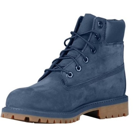grey and blue timberland boots